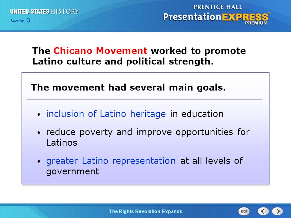 The movement had several main goals.