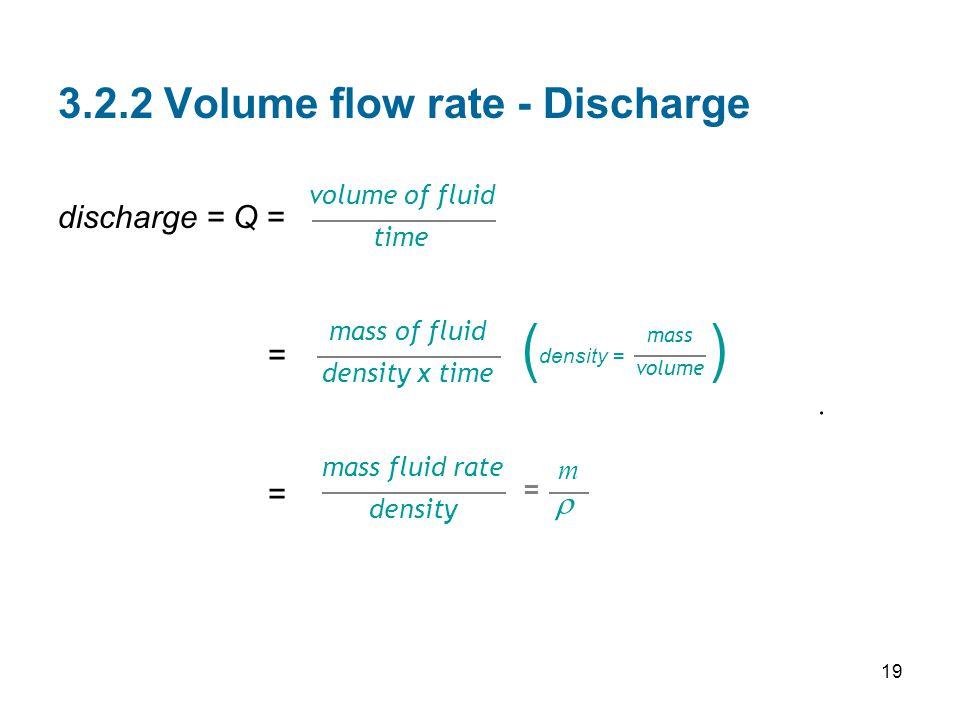 3.2.2 Volume flow rate - Discharge