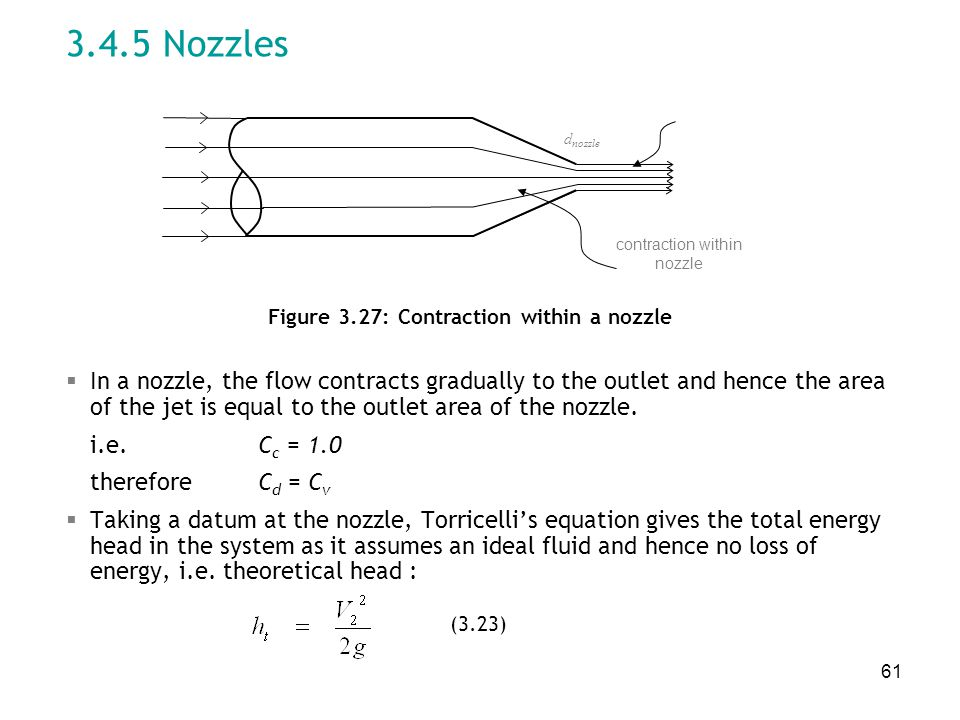 Figure 3.27: Contraction within a nozzle