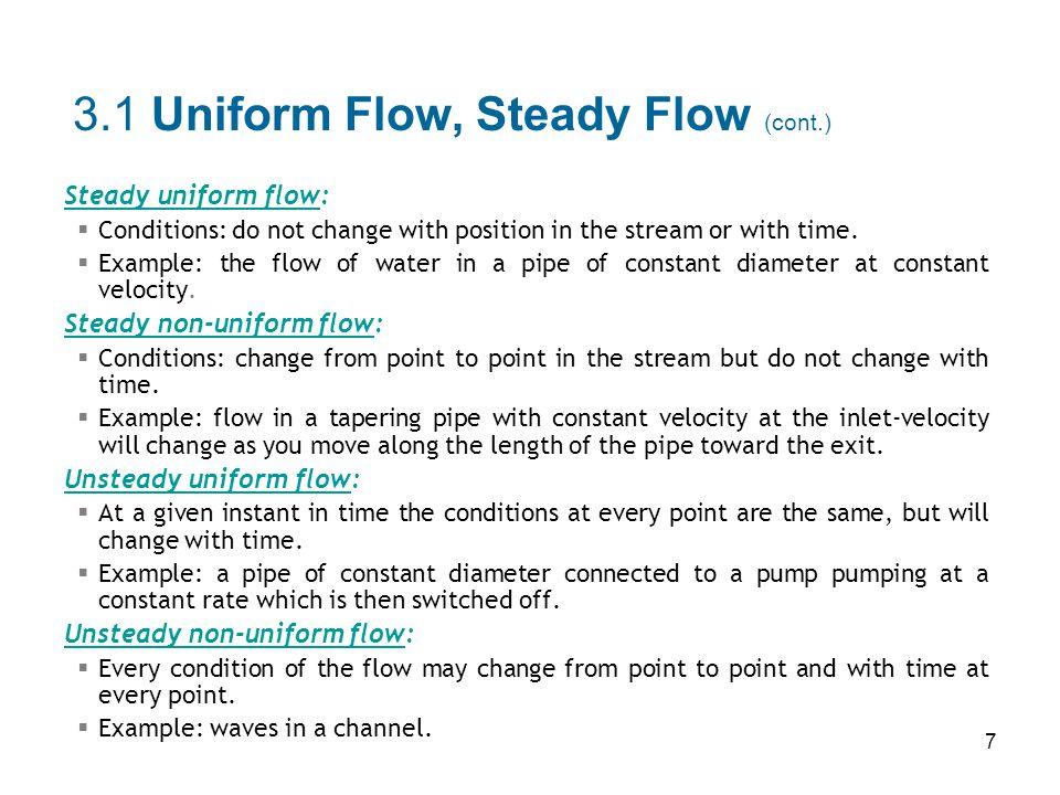 3.1 Uniform Flow, Steady Flow (cont.)