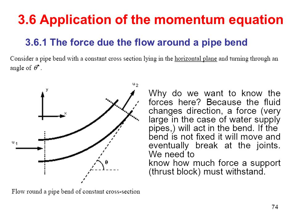 3.6 Application of the momentum equation