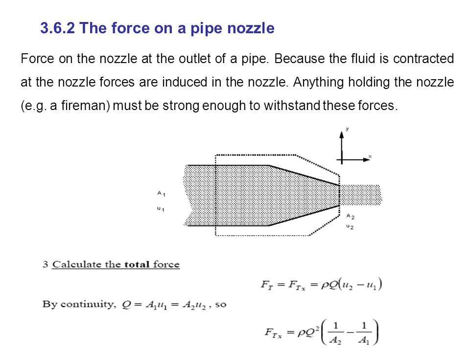 3.6.2 The force on a pipe nozzle