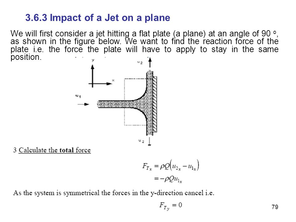 3.6.3 Impact of a Jet on a plane