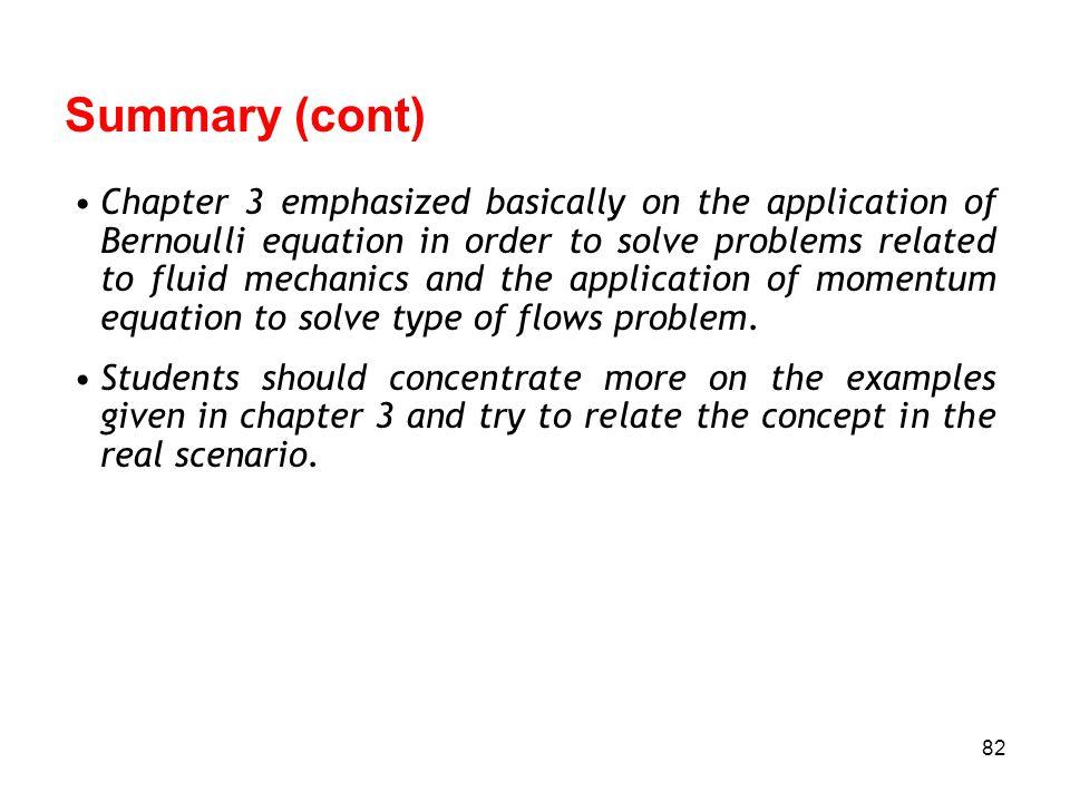 Summary (cont)