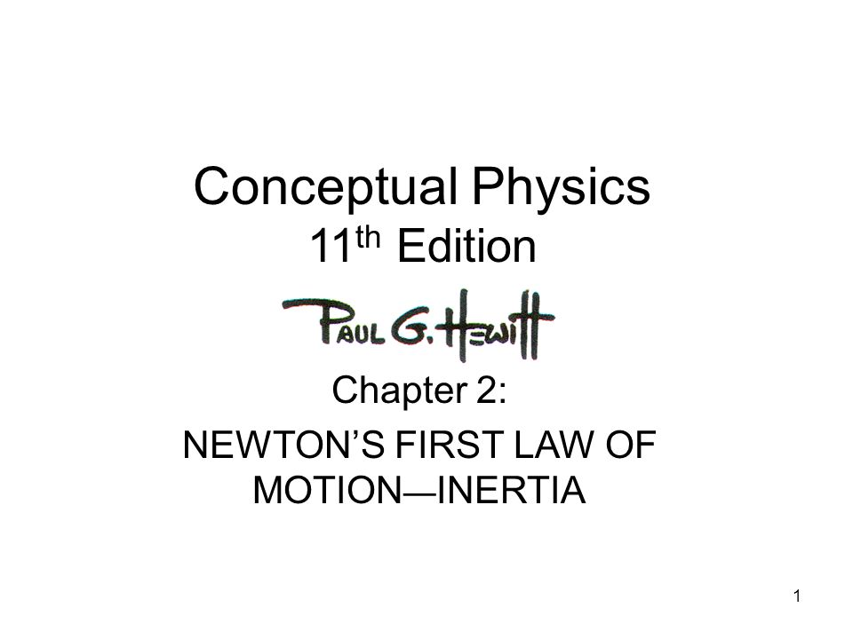 Conceptual Physics 11th Edition
