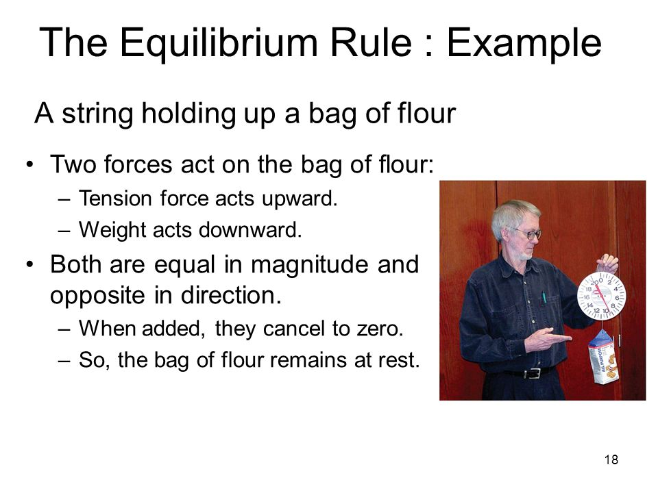The Equilibrium Rule : Example