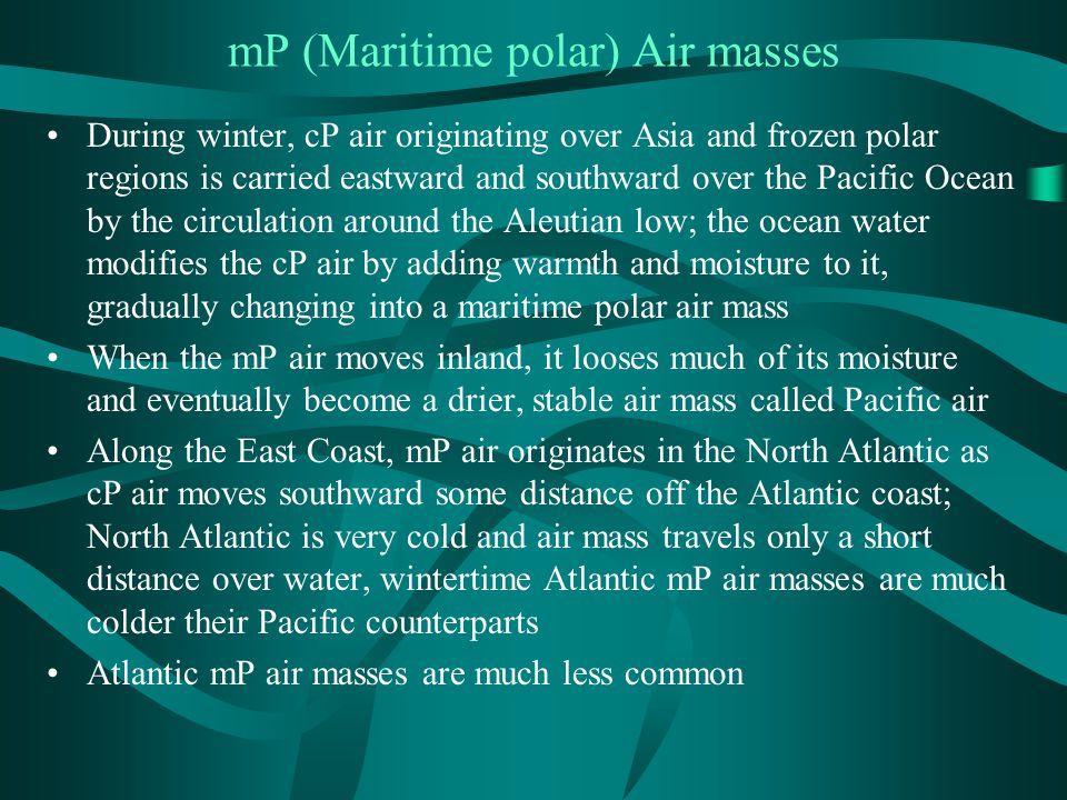mP (Maritime polar) Air masses