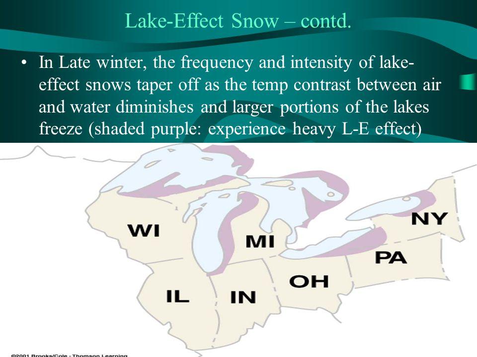 Lake-Effect Snow – contd.
