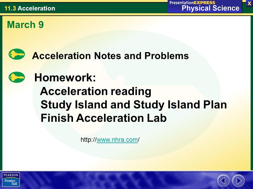 Study Island and Study Island Plan Finish Acceleration Lab