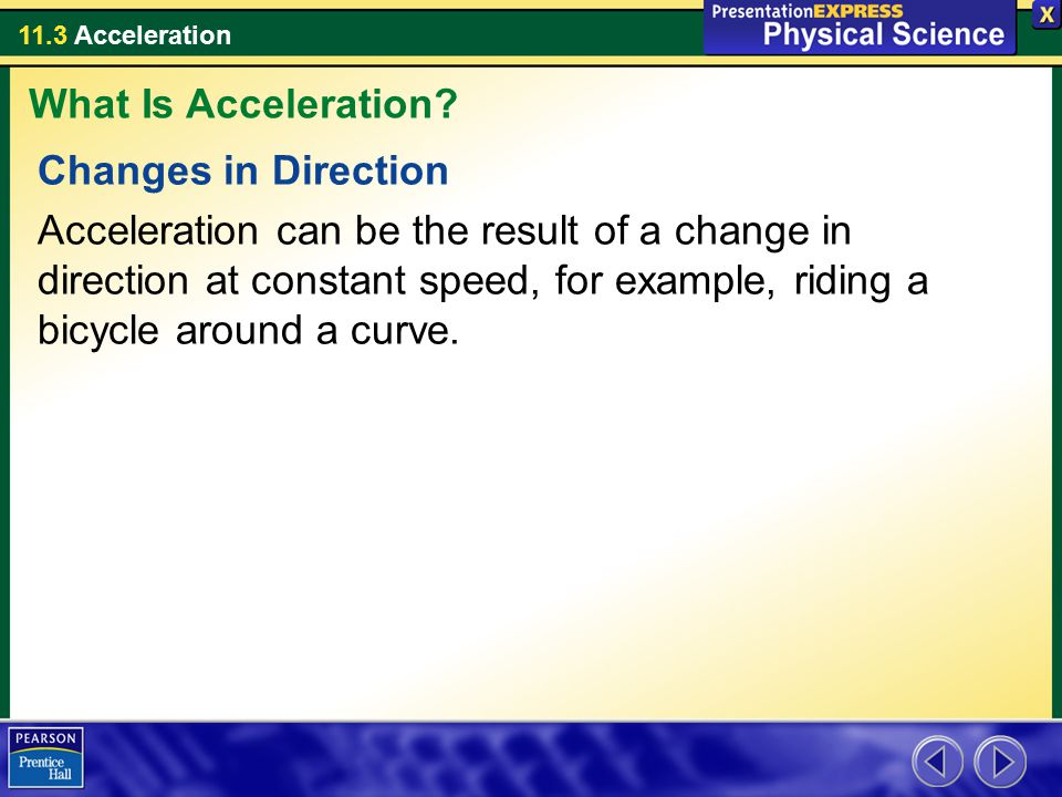 What Is Acceleration Changes in Direction.