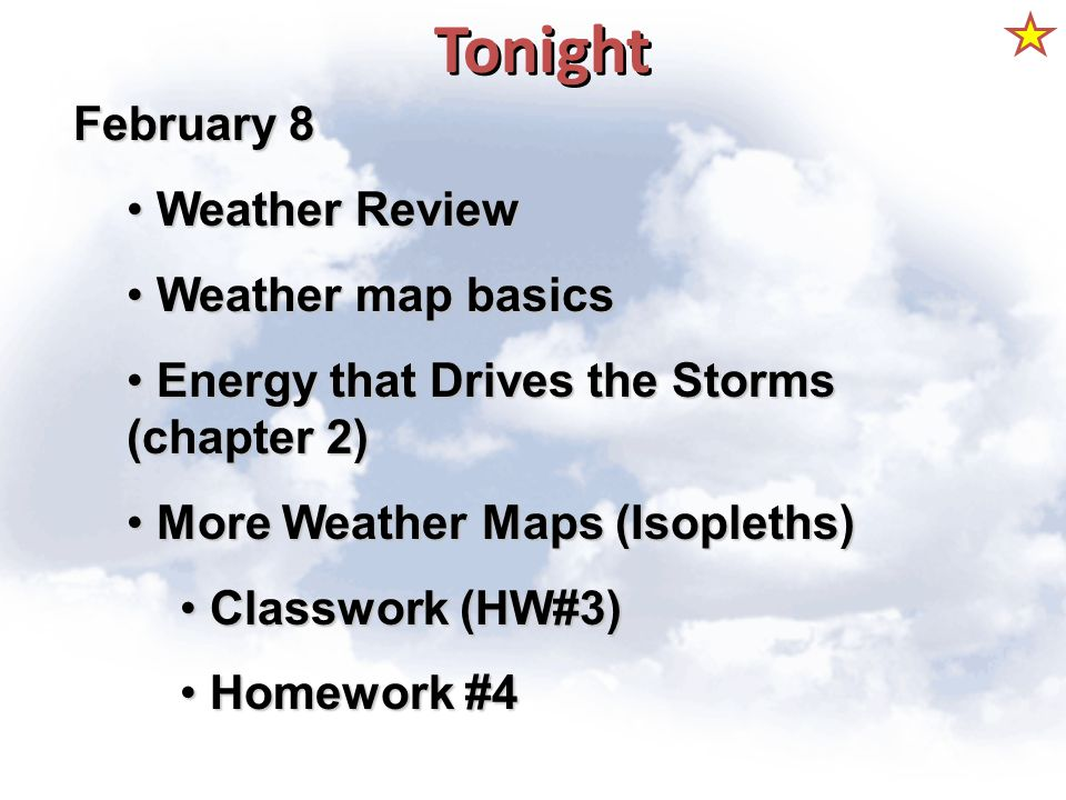 Tonight February 8 Weather Review Weather map basics