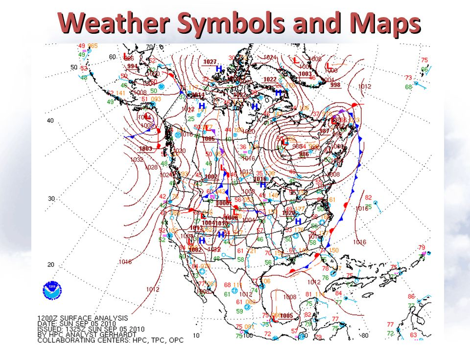 Weather Symbols and Maps