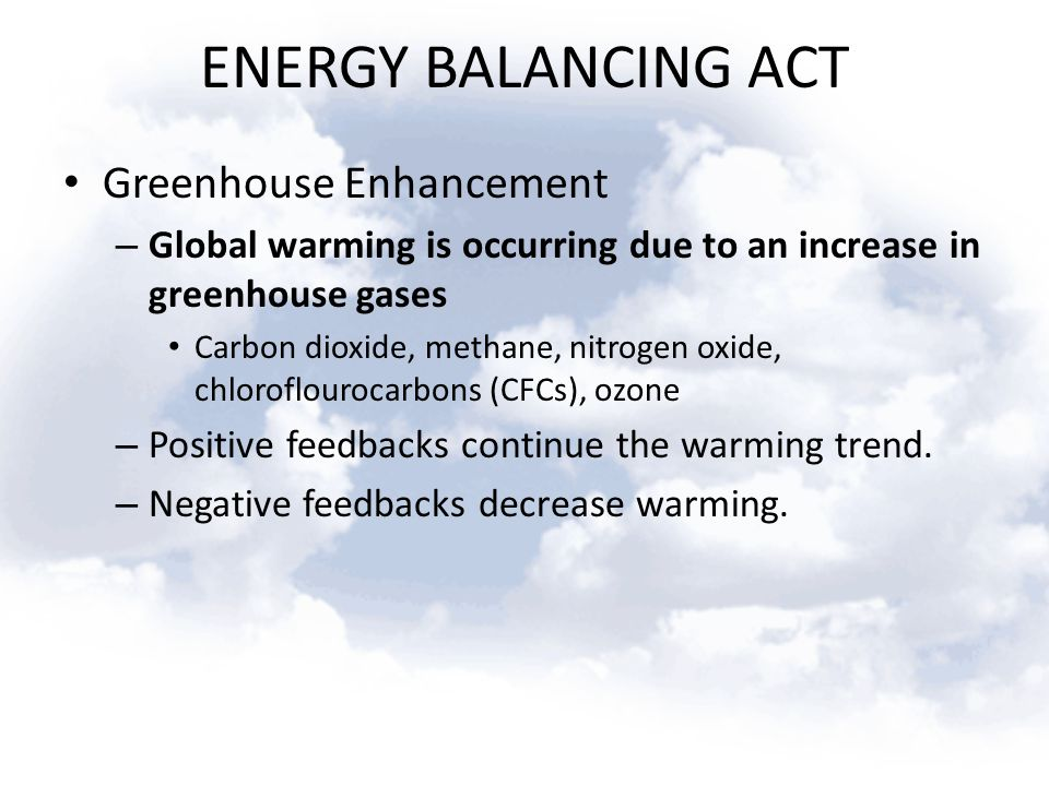 ENERGY BALANCING ACT Greenhouse Enhancement