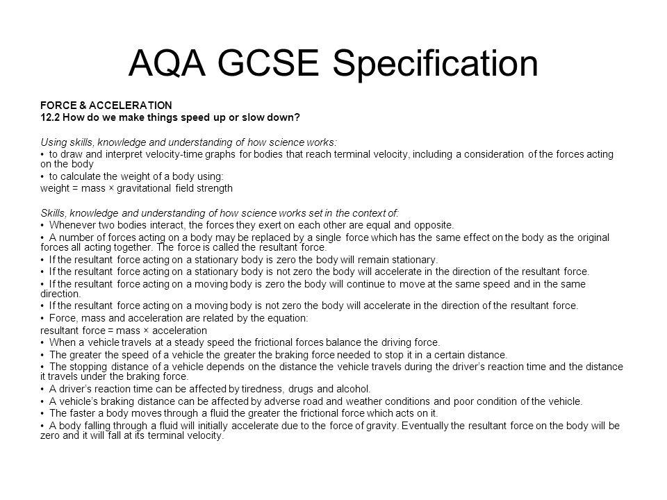 AQA GCSE Specification