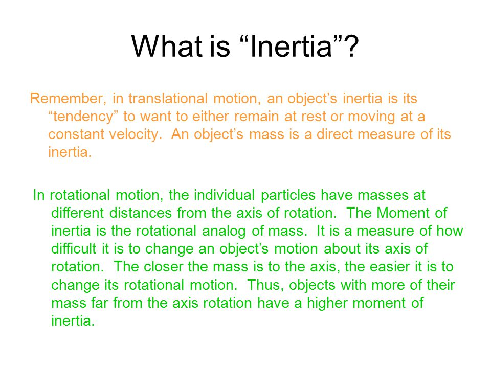 What is Inertia
