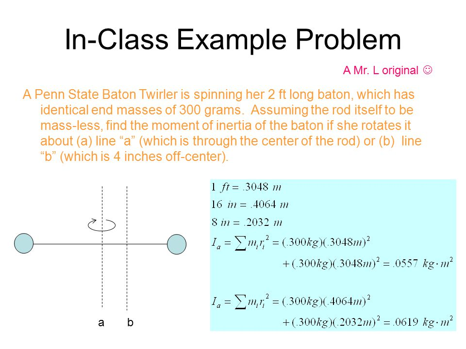 In-Class Example Problem