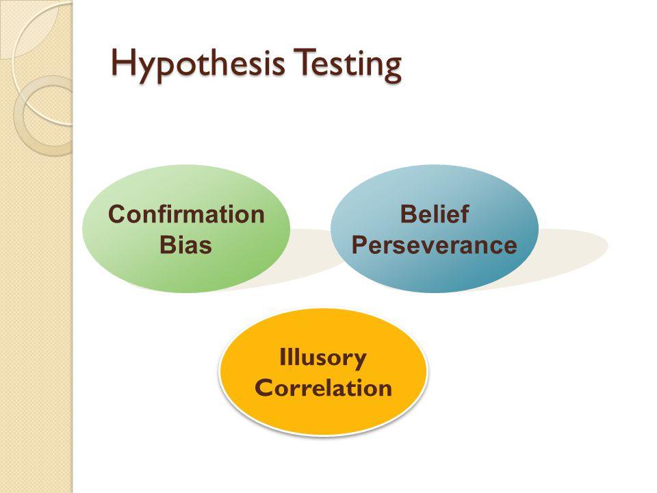 Hypothesis Testing Confirmation Bias Belief Perseverance