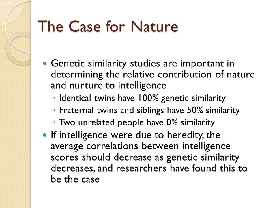 the importance of nature and nurture to peoples lives Essay on the importance of nature and nurture:: 11 works cited essay about the nature versus nurture debate - people can get their the theme of nature versus nurture in shelly's frankenstein essay - nature versus nurture is a debate of importance of one's qualities when.