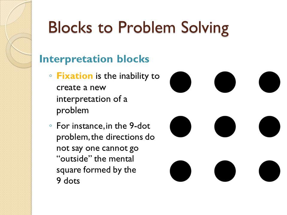 Blocks to Problem Solving