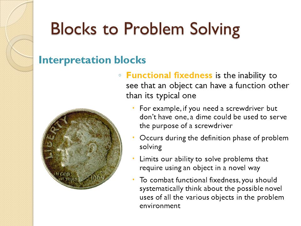 blocks in problem solving One mother in our homeschool co-op group is fantastic at putting together learning activities for a big group of multi-aged kids she has graciously allowed me to.