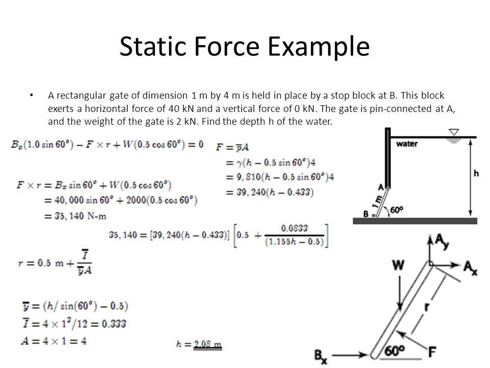 Static Force Example