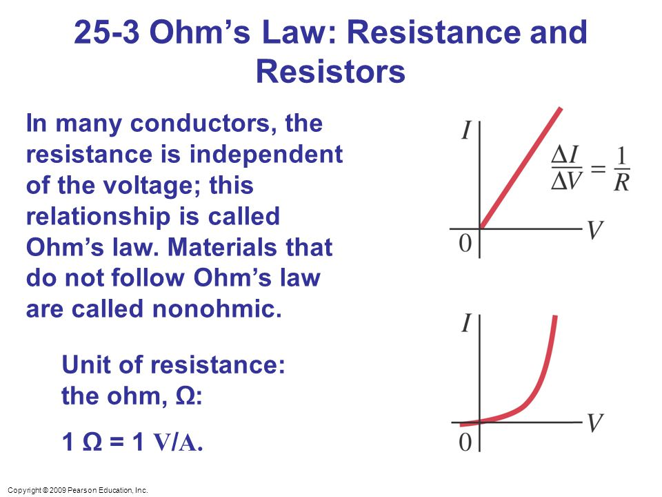 25-3 Ohm's Law: Resistance and Resistors