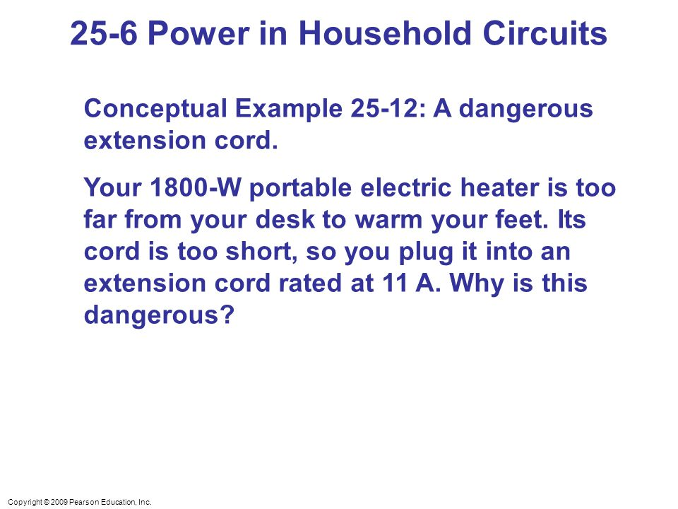 25-6 Power in Household Circuits