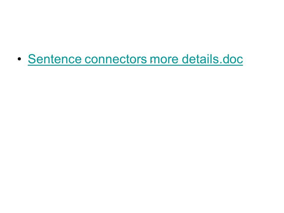 Sentence connectors more details.doc