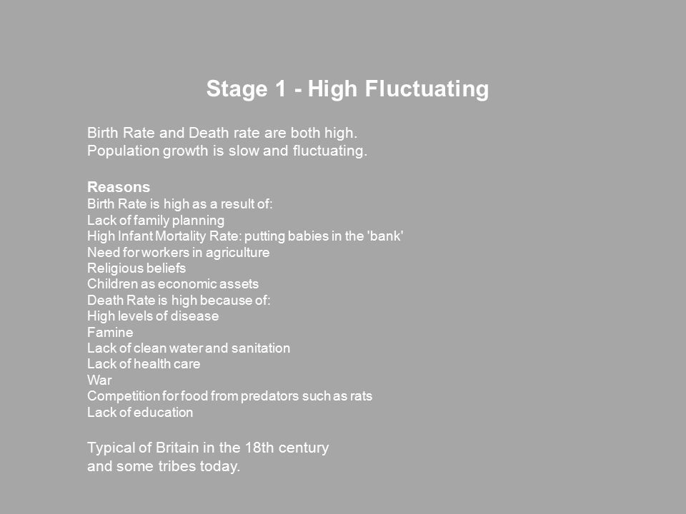Stage 1 - High Fluctuating