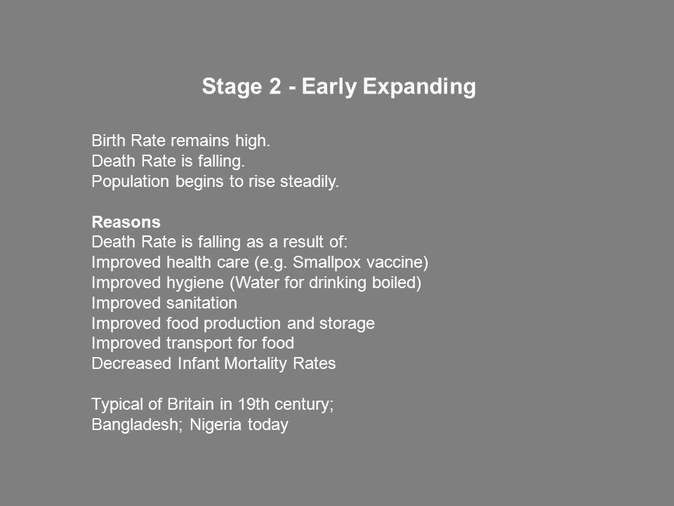 Stage 2 - Early Expanding