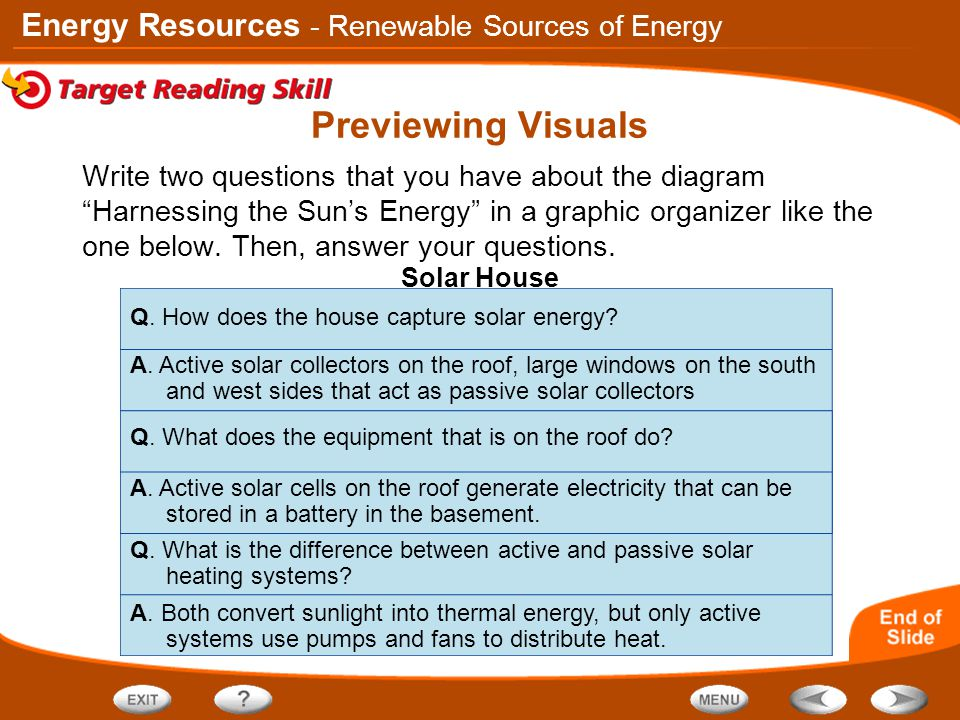 Previewing Visuals - Renewable Sources of Energy