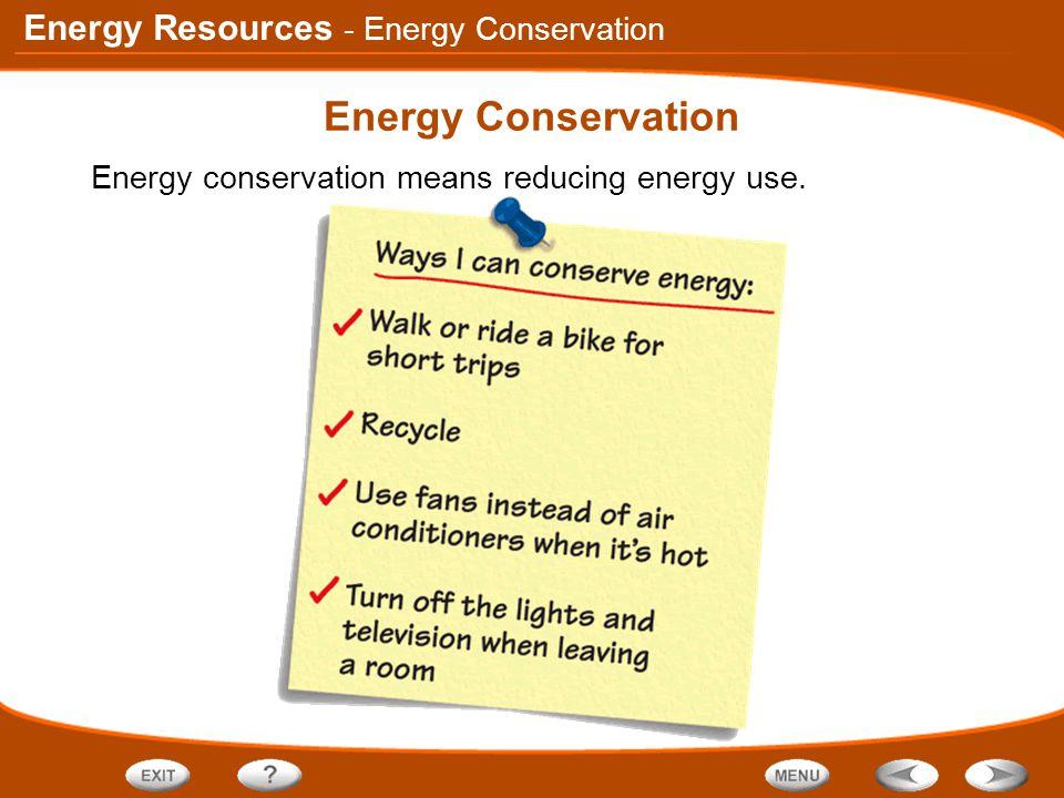 Energy Conservation - Energy Conservation