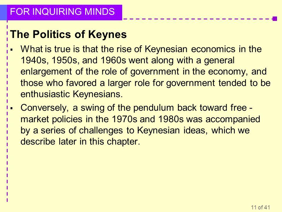 The Politics of Keynes
