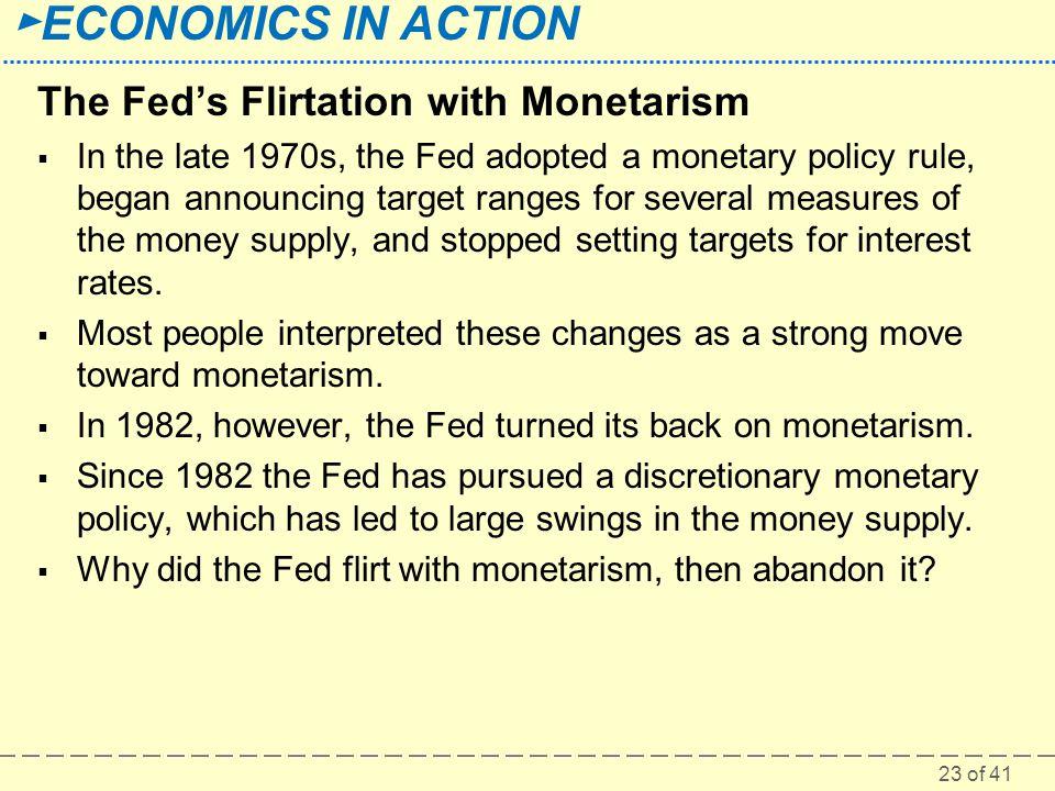 The Fed's Flirtation with Monetarism