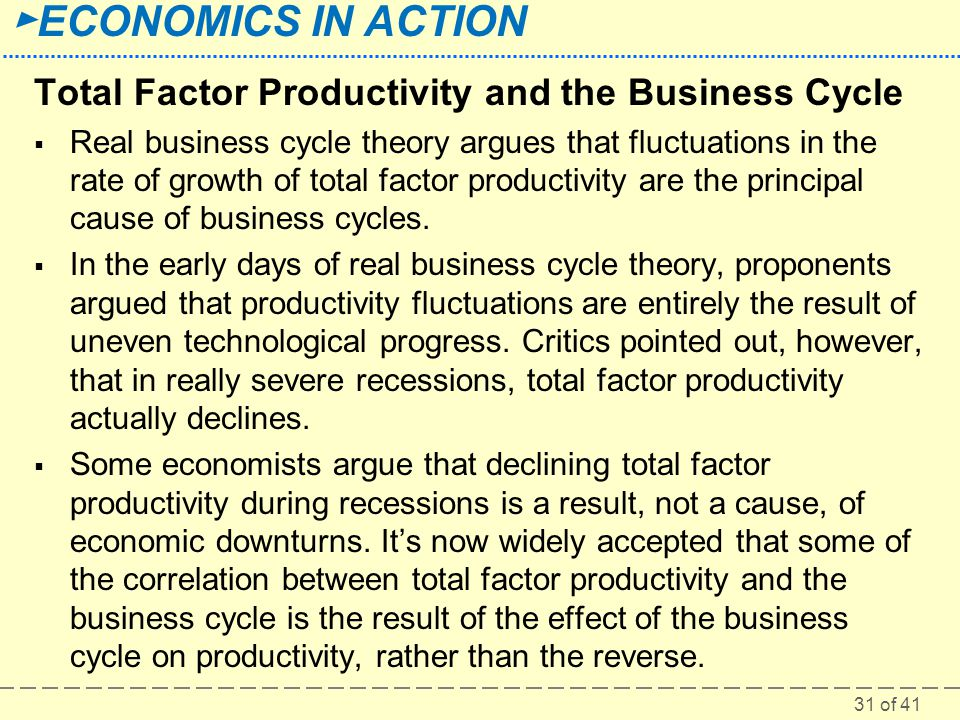 Total Factor Productivity and the Business Cycle