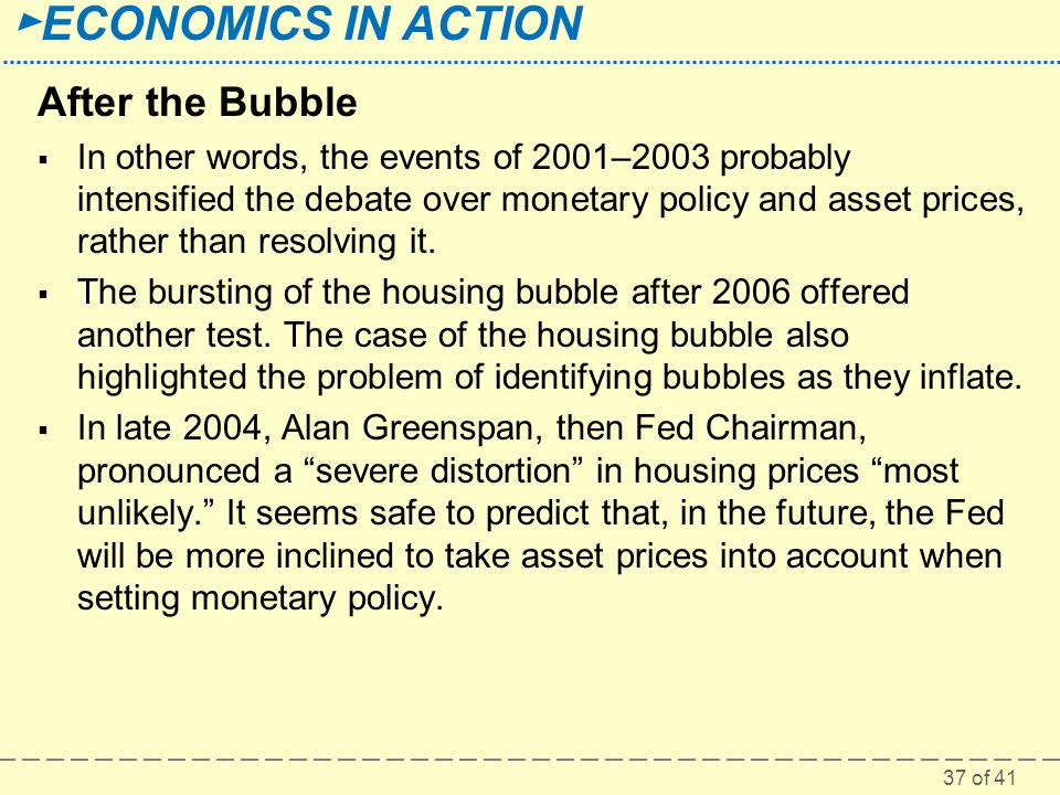 After the Bubble