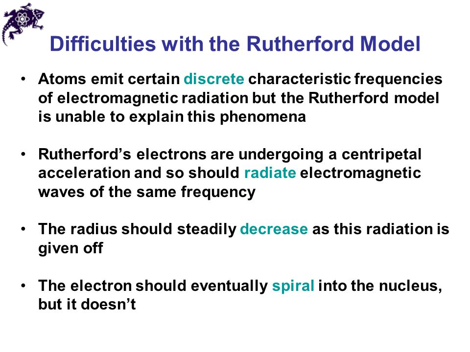 Difficulties with the Rutherford Model