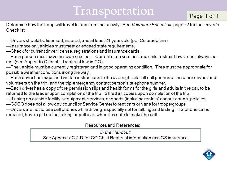 Transportation Page 1 of 1