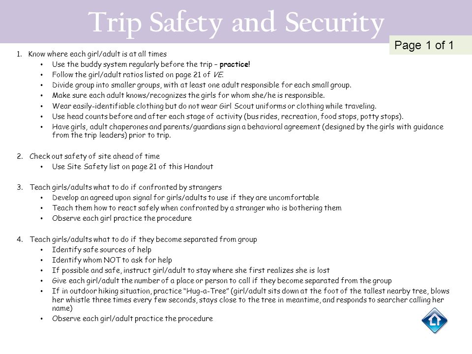 Trip Safety and Security