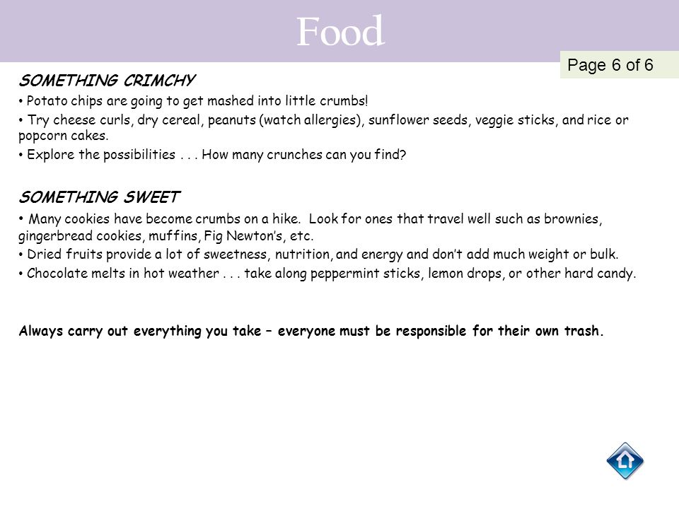 Food Page 6 of 6 SOMETHING CRIMCHY SOMETHING SWEET
