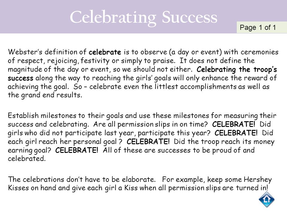 Celebrating Success Page 1 of 1