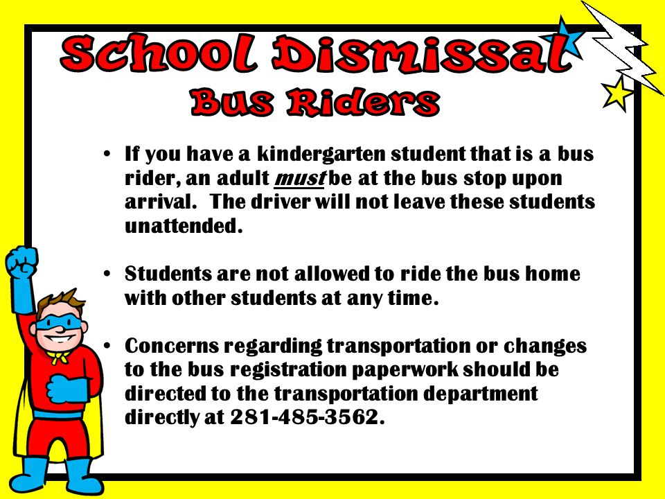 School Dismissal Bus Riders