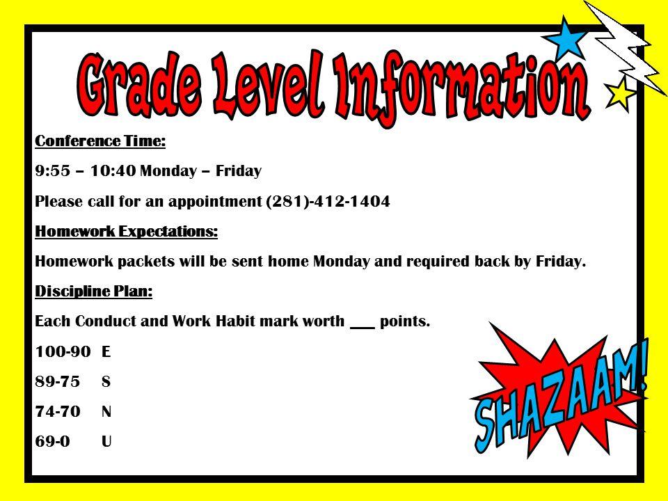 Grade Level Information