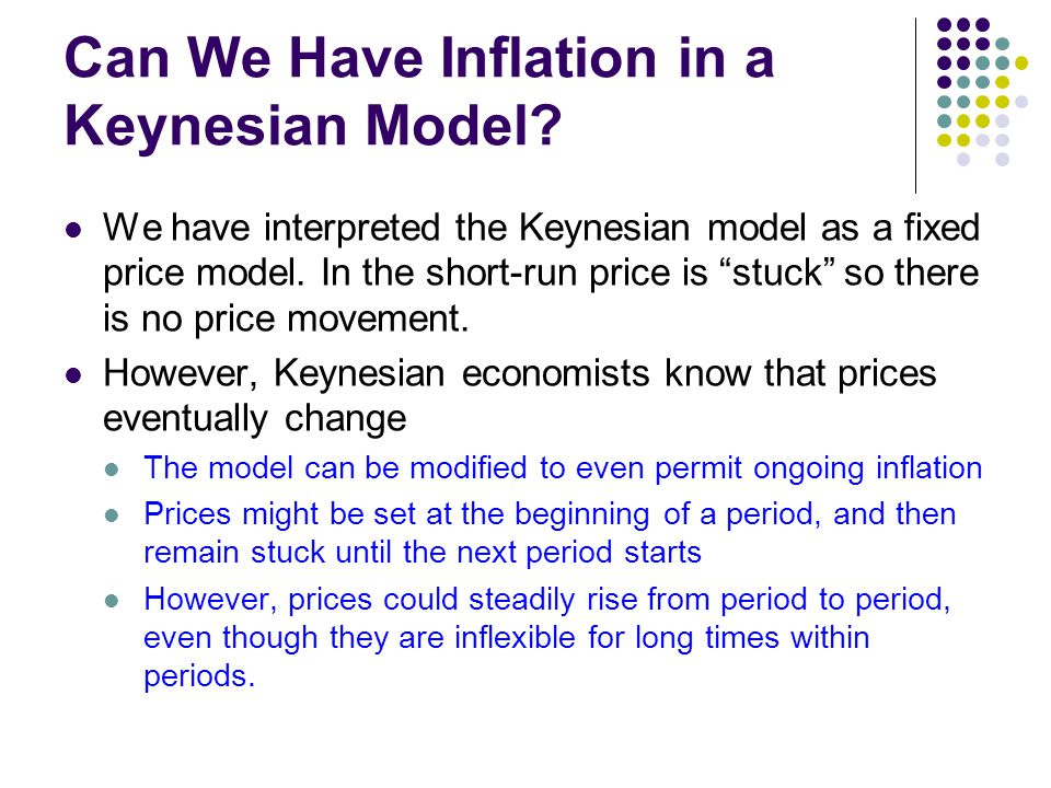 Can We Have Inflation in a Keynesian Model