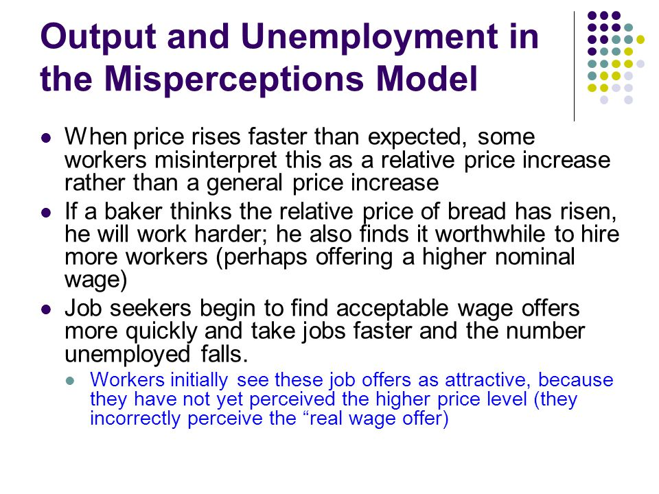 Output and Unemployment in the Misperceptions Model