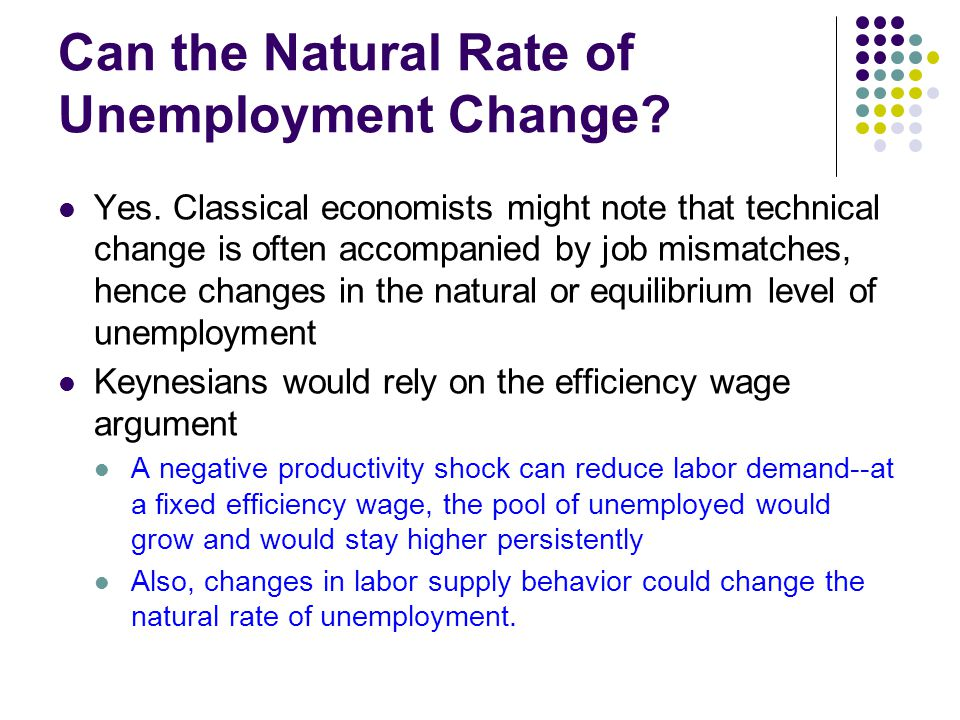 Can the Natural Rate of Unemployment Change