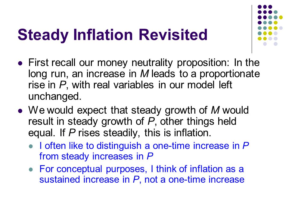 Steady Inflation Revisited