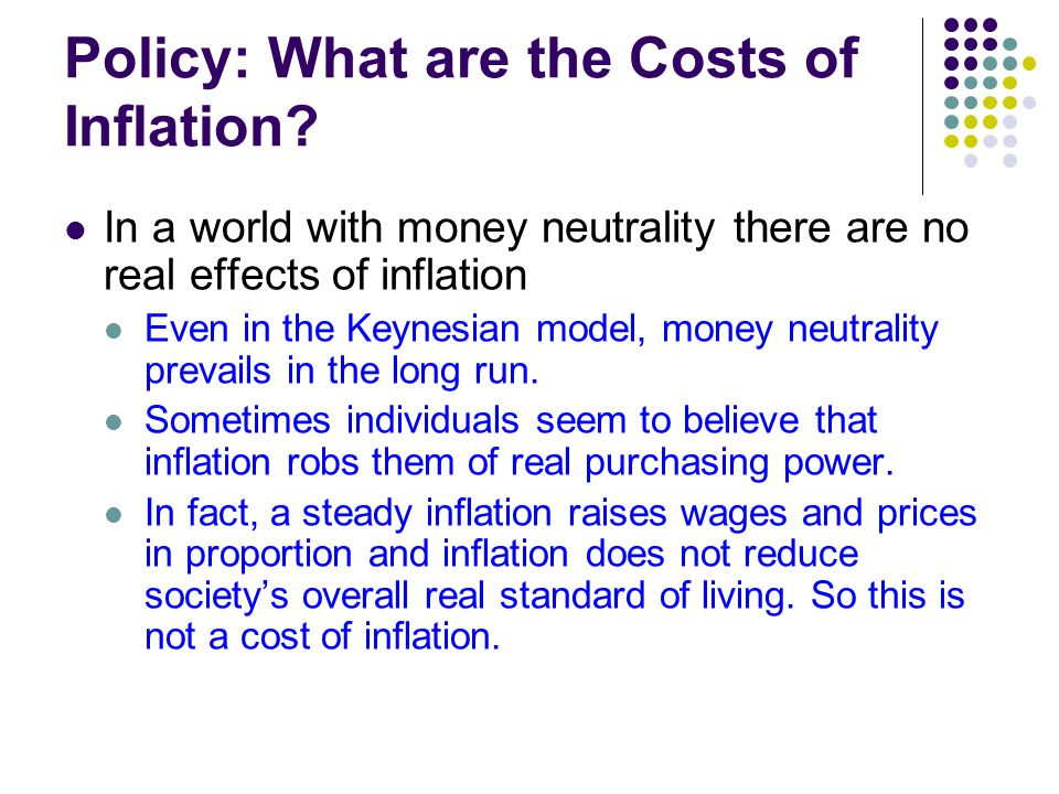 Policy: What are the Costs of Inflation