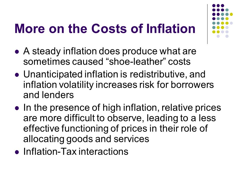 More on the Costs of Inflation