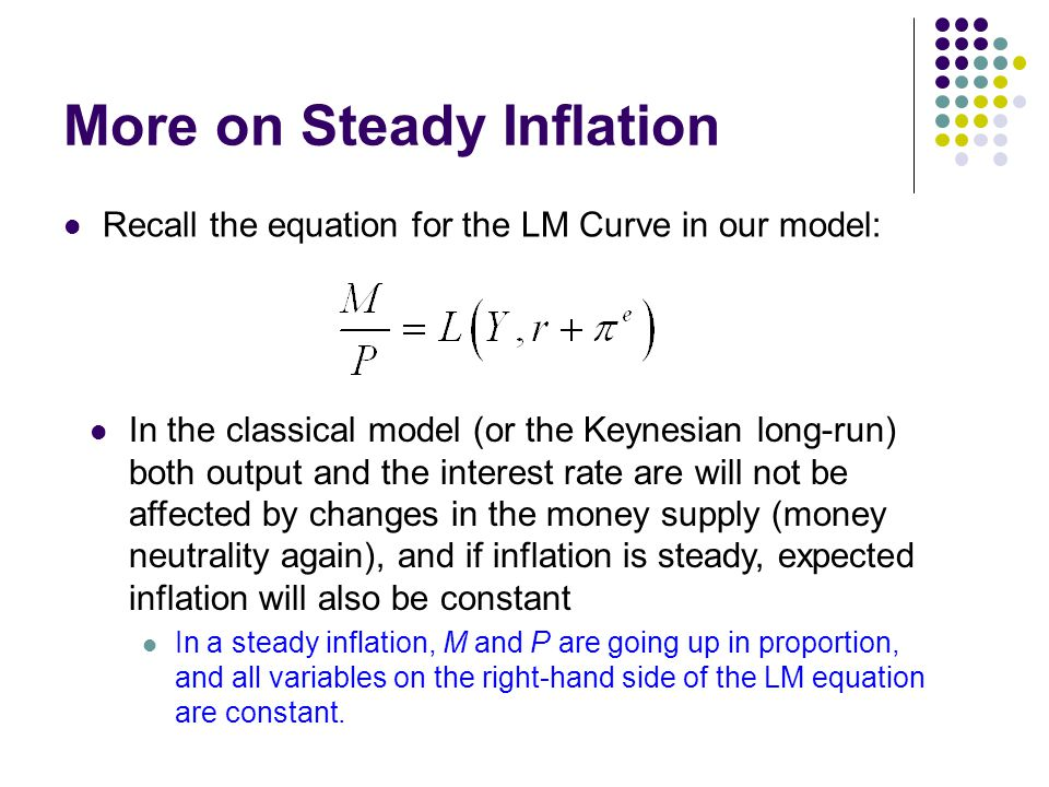 More on Steady Inflation